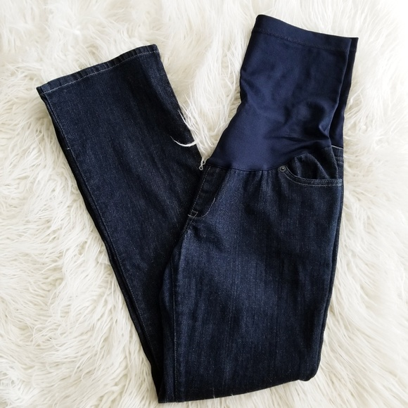 7112ff1b10d51 Liz Lange Jeans | I Maternity Full Panel 8 Dark Wash | Poshmark